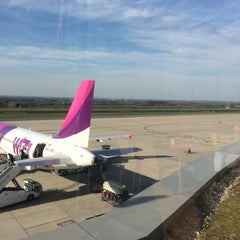 Photo taken at Dortmund Airport (DTM) by Simon T. on 4/14/2015