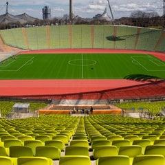 Photo taken at Olympiastadion by « uʍop-ıɐs-dn ». on 4/10/2013