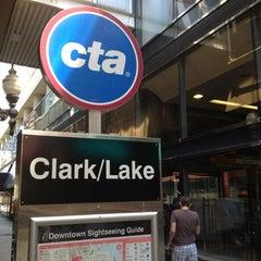 Photo taken at CTA - Clark/Lake by Timothy on 7/28/2012