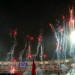 Photo taken at Dr. DY Patil Stadium (डा. डी. वाय. पाटील स्टेडीयम) by Aakash on 12/20/2014