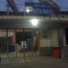 Photo taken at Stasiun Rantauprapat by Bristia Yanuar S. on 2/12/2015