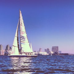 Photo taken at San Diego Bay by Andres D. on 11/23/2012