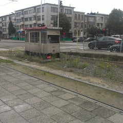 Photo taken at Tram 5 : Halte - Antwerp Stadion by Tim on 10/2/2012