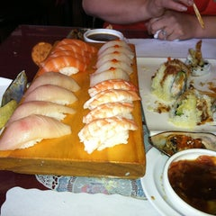Photo taken at Pacific Cabin Sushi by elsa on 4/19/2013