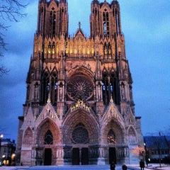 Photo taken at Cathédrale Notre-Dame de Reims by Magdalene B. on 2/22/2013
