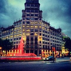 Photo taken at Passeig de Gràcia by Roman G. on 5/10/2013