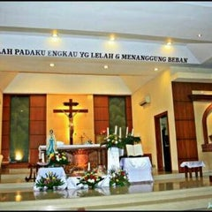 Photo taken at Gereja Maria Immaculata Slawi by George L. on 12/14/2013