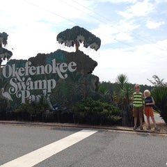 Photo taken at Okefenokee Swamp Park by Elizabeth R. on 7/5/2014