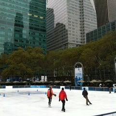 Photo taken at Bank of America Winter Village at Bryant Park by Murugu N. on 11/13/2012