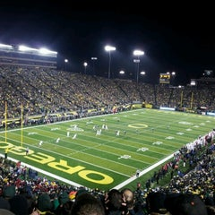 Photo taken at Autzen Stadium by Emily H. on 11/18/2012