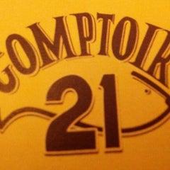Photo taken at Comptoir 21 by Steve M. on 1/5/2013