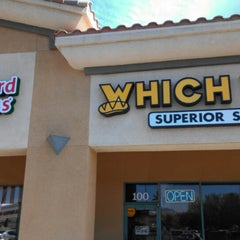 Photo taken at Which Wich? Superior Sandwiches by F K. on 10/8/2013