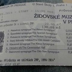 Photo taken at Židovské muzeum   Jewish Museum in Prague by Martina Z. on 5/8/2014