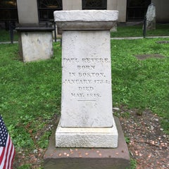 Photo taken at Paul Revere's Tomb by Randy M. on 7/10/2015