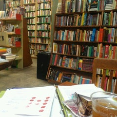 Photo taken at Stories Books & Cafe by Julie J. on 2/9/2013