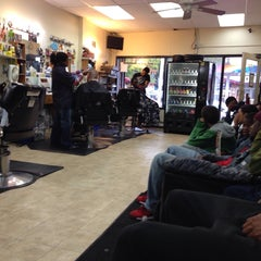 Photo taken at Bigga League Barber Shop by Bill B. on 10/6/2013