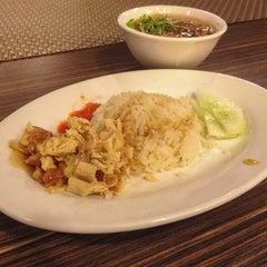 Photo taken at Lotus Vegetarian Restaurant by Little Green Wok on 2/16/2014