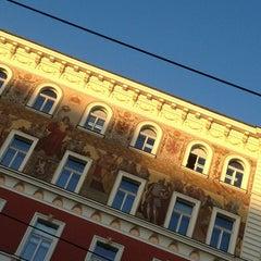 Photo taken at Karlovo náměstí (tram, bus) by S.a.m. Pavel D. on 1/31/2013