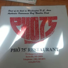 Photo taken at Pho 75 by Kevin M. on 2/17/2013
