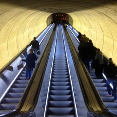 Photo taken at Dupont Circle Metro Station by Anna G. on 1/20/2013