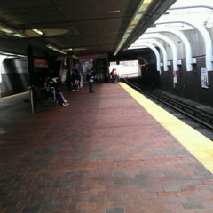 Photo taken at MBTA Roxbury Crossing Station by Angel H. on 2/23/2012