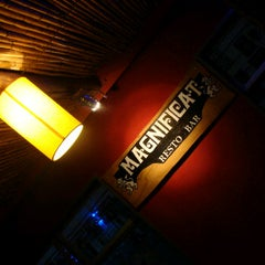 Photo taken at Magnificat Resto Bar by Magnificat R. on 5/10/2012