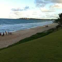Photo taken at Praia de Pium by Alexandre S. on 3/22/2012