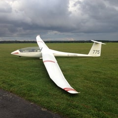 Photo taken at Lasham Airfield by Dominic W. on 8/30/2012