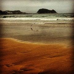 Photo taken at Playa de Zarautz by elena m. on 8/15/2012