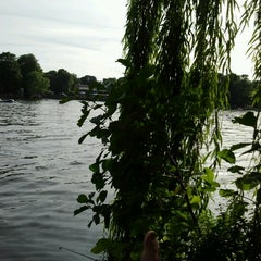 Photo taken at Treptower Park by Dani P. on 8/18/2012
