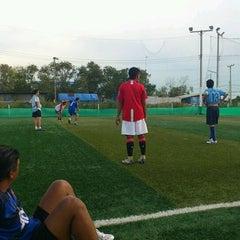Photo taken at สนามบอล สท.แพะ by suriya b. on 4/19/2012