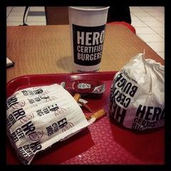 Photo taken at Hero Certified Burgers by Cameron N. on 2/18/2012
