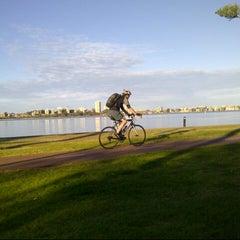 Photo taken at Swan River by VIOLET L. on 8/30/2012