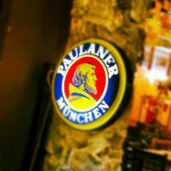 Photo taken at Brotzeit German Bier Bar & Restaurant by Eugene M. on 12/29/2012