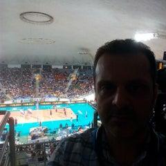 Photo taken at Αλεξάνδρειο Μέλαθρον (Palais des Sports) by John S. on 6/21/2015