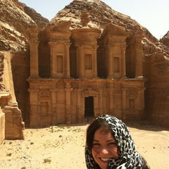 Photo taken at Petra البتراء by Melissa F. on 4/8/2013