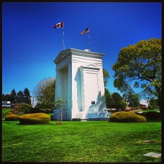 Photo taken at Peace Arch Border Crossing by Gurjeet S. on 5/24/2013