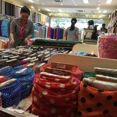 Photo taken at Toko Tekstil Kranggan (Jangkrik) by yp l. on 10/1/2015