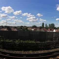 Photo taken at Perivale London Underground Station by Jakub K. on 8/21/2014