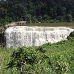 Photo taken at Lower Falls Park by Lisa M. on 8/4/2013