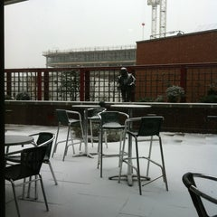 Photo taken at British Library Cafe by Russell W. on 1/18/2013