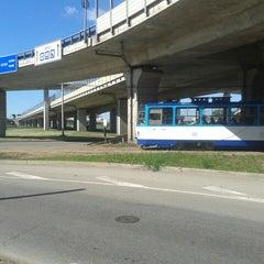 "Photo taken at 7. tramvajs | Ausekļa iela - Tirdzniecības centrs ""Dole"" by Lauma on 6/12/2013"