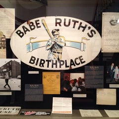 Photo taken at Babe Ruth Birthplace & Museum by Matt S. on 2/22/2014
