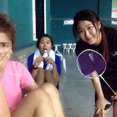 Photo taken at CC Badminton Court by Jamiie on 4/19/2014