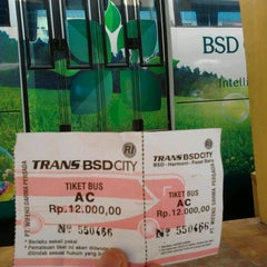 Photo taken at Terminal Feeder Busway Trans BSD by Iqbal R. on 6/23/2013