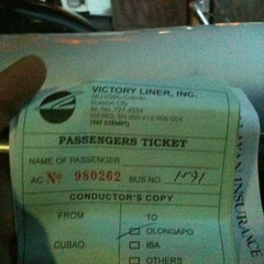 Photo taken at Victory Liner (Cubao Terminal) by Jayem L. on 3/21/2012