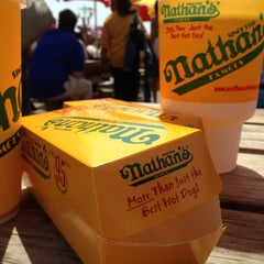 Photo taken at Nathan's Famous by Maria B. on 6/22/2013