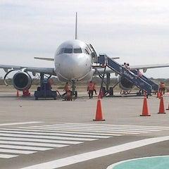 Photo taken at Aeropuerto Internacional Capitán FAP Guillermo Concha Iberico (PIU) by Claudita A. on 1/28/2014