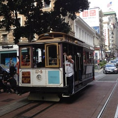 Photo taken at Powell Street Cable Car Turnaround by Anton N. on 10/21/2012