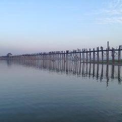 Photo taken at U Bein Bridge by ¥⭕t on 2/9/2013